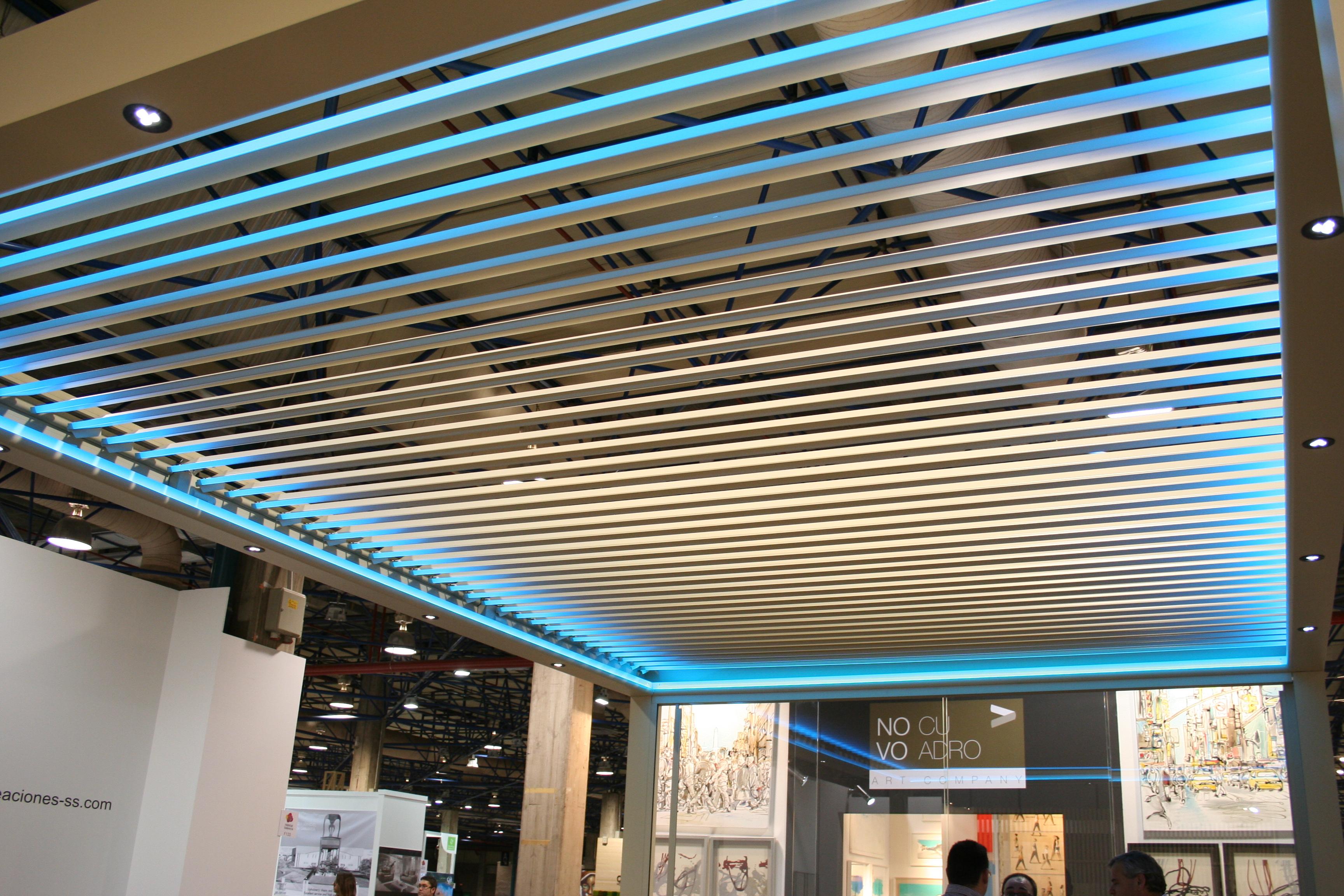 techo móvil de lama de aluminio