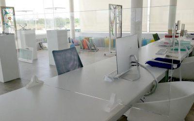 Mamparas proteccion de cristal a medida