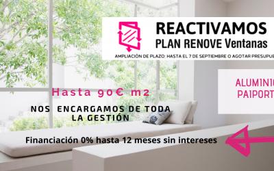 Plan Renove Ventanas 2020 Valencia